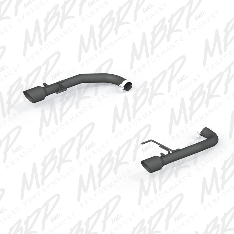 2015+ Ford Mustang GT 5.0L V8 MBRP Performance Muffler Delete Axle Back Exhaust Kit - Black