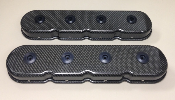 LS Series SDPC Carbon Fiber Valve Covers w/o Oil Fill Hole/Cap