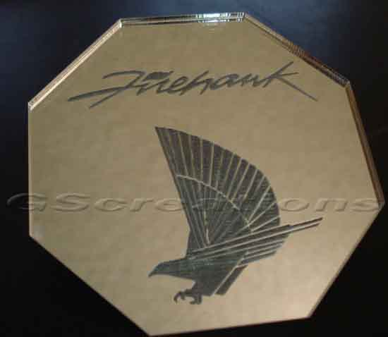 "82-02 Fbody GSCreations AC Condenser Cover w/""Firehawk"" & Bird Logo"