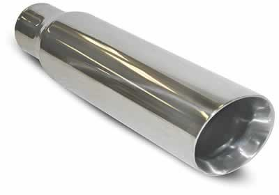 "SLP Exhaust Tip, Universal, Polished 3.5"" Double-Wall 2.5"" inlet"