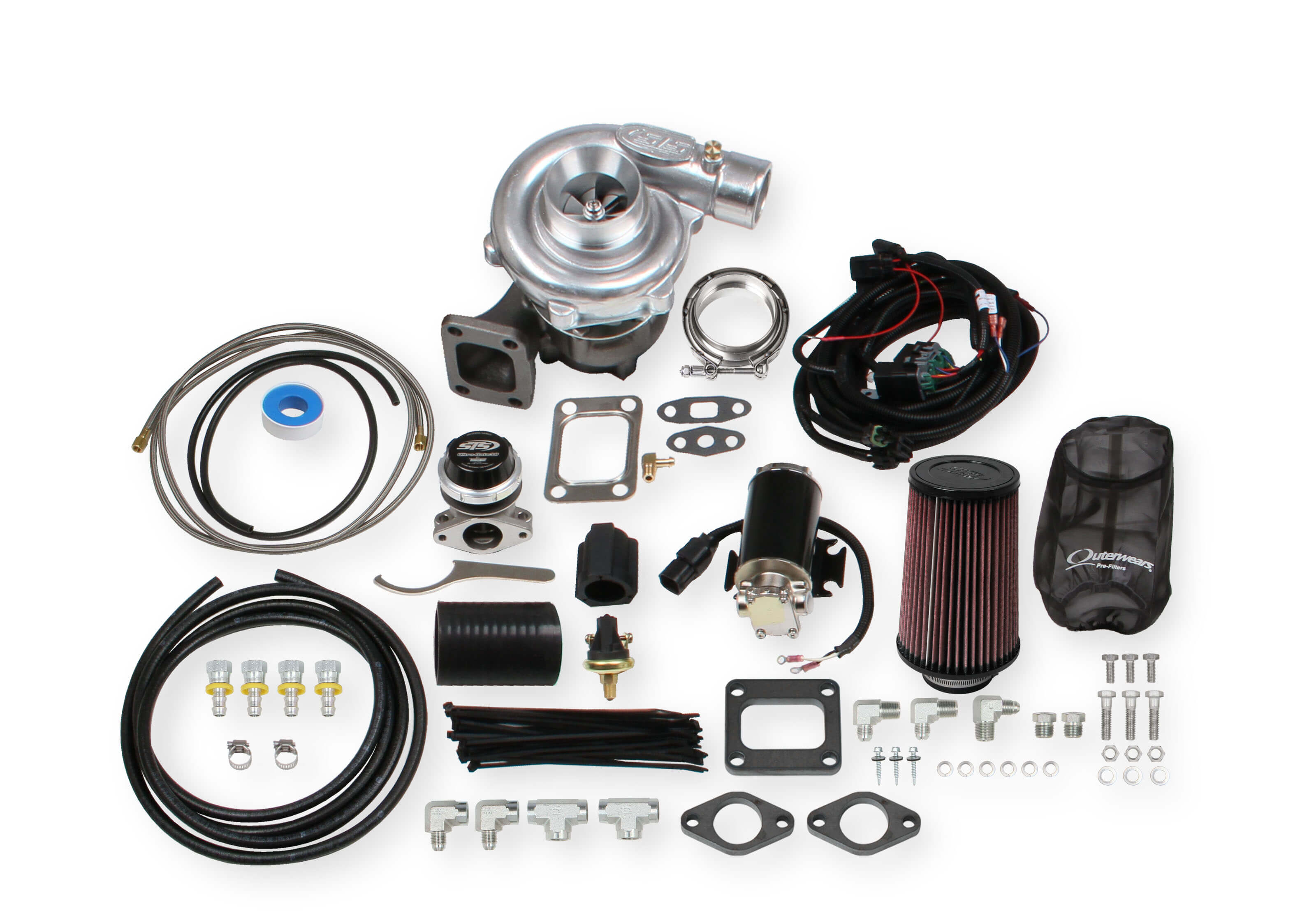 STS Turbo Remote Mounted Single Turbo Kit for 4.0-5.0 liter engines