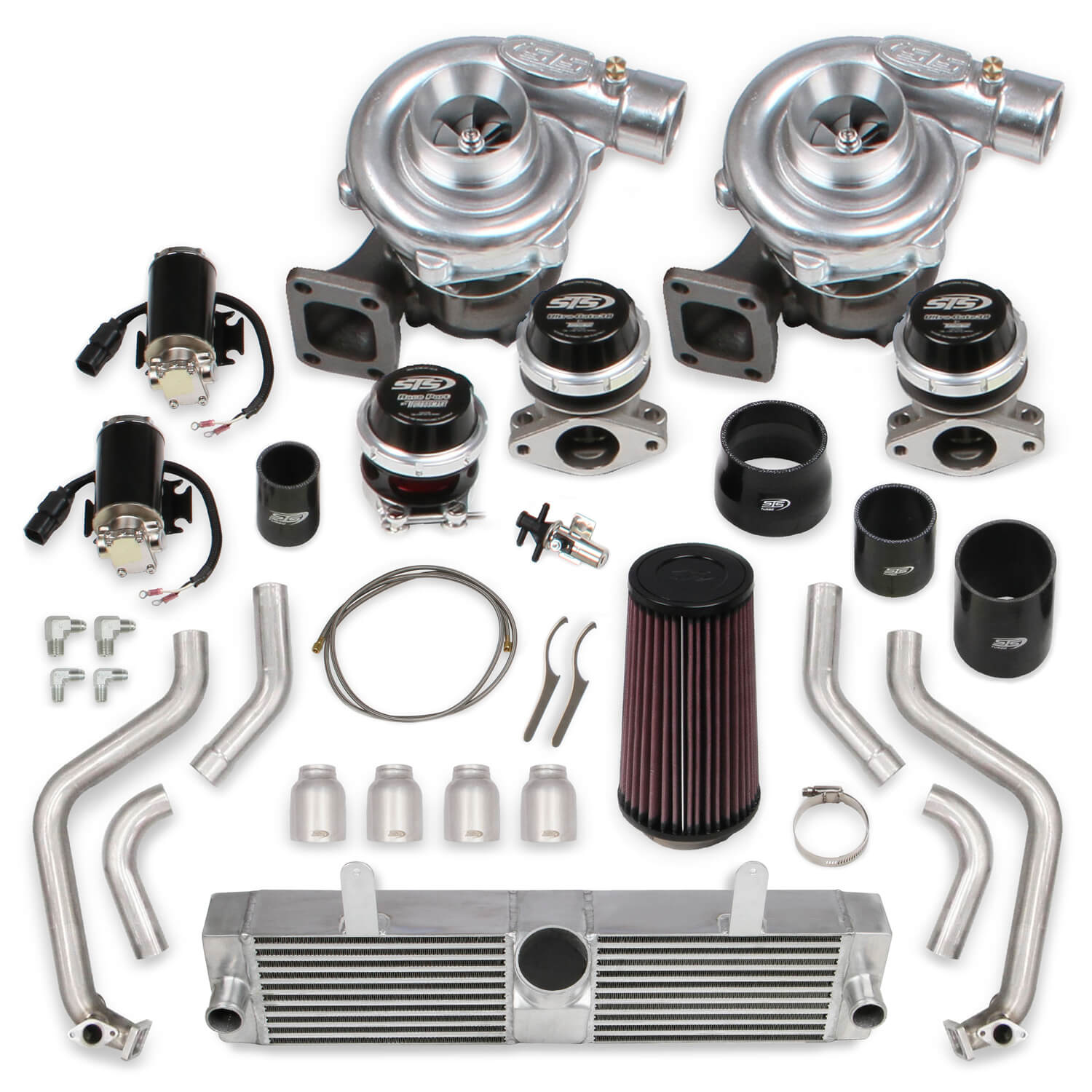 2006-2013 C6 ZO6 Corvette STS Turbo Remote Mounted Twin Turbo System Without Tuner & Fuel Injectors
