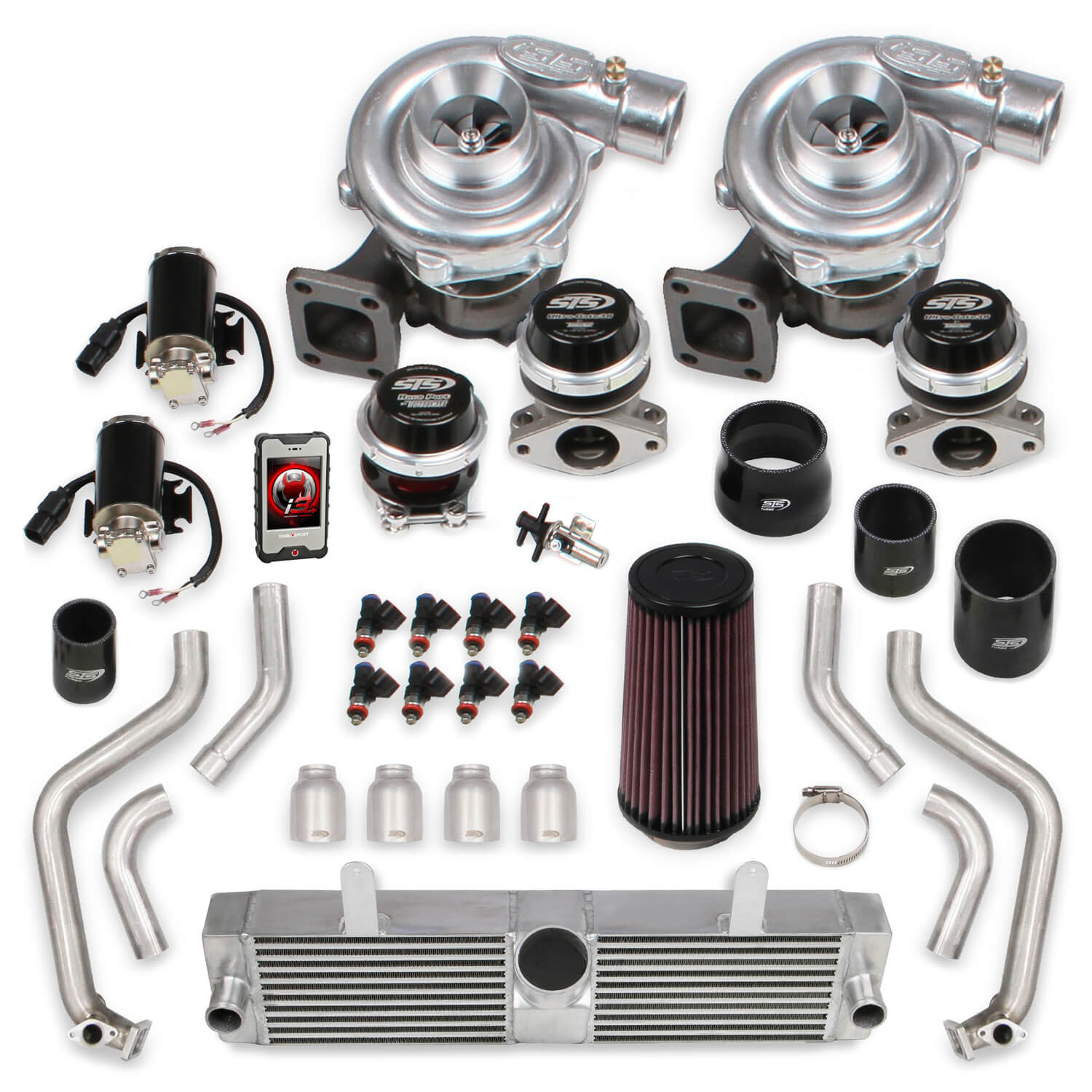 2006-2013 C6 ZO6 Corvette STS Turbo Remote Mounted Twin Turbo System With Tuner & Fuel Injectors