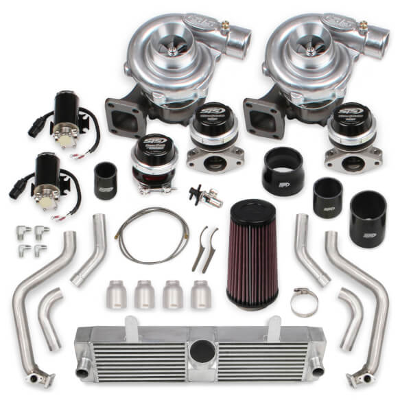 2010-2013 C6 Corvette Grand Sport STS Turbo Rear Mounted Twin Turbo System without tuner & fuel injectors (Standard Kit)