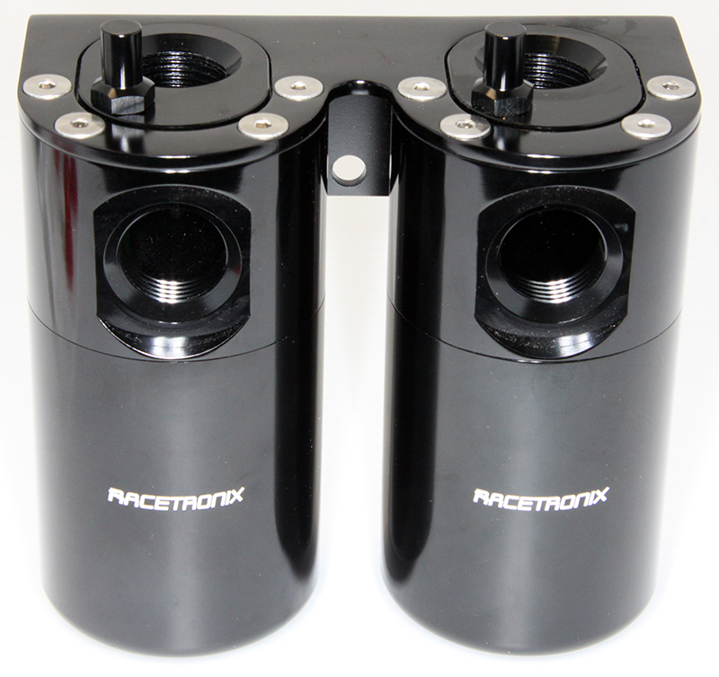 Racetronix Dual Catch Can & Oil Separator - Black