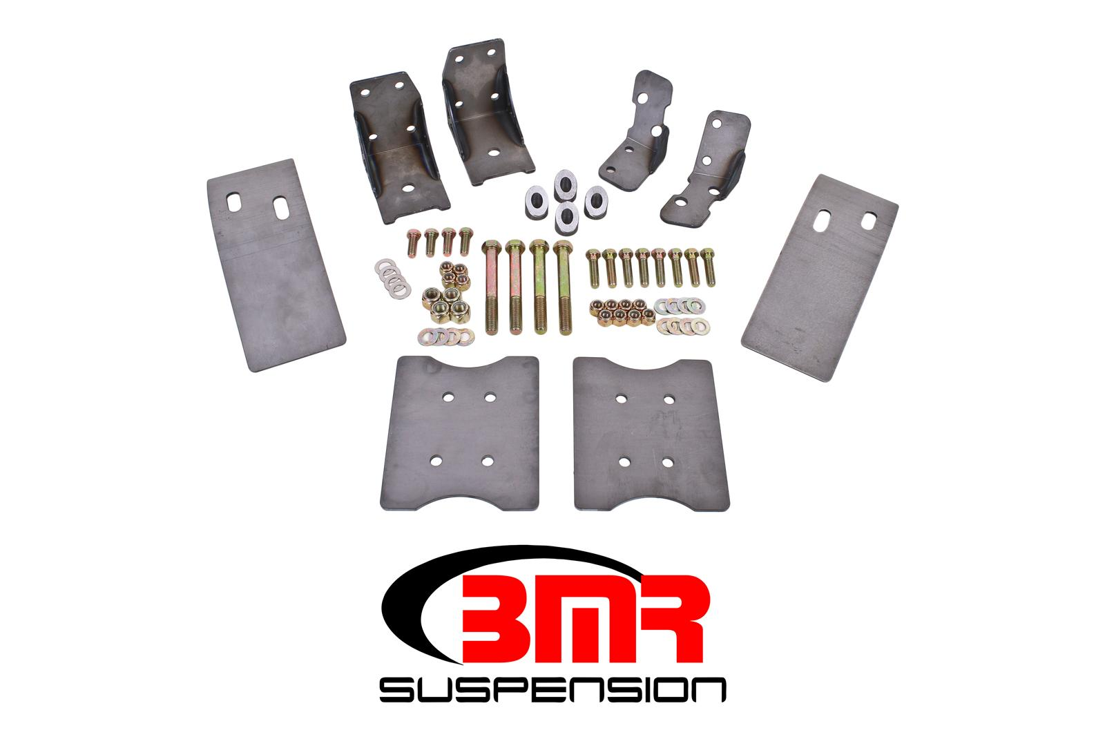 1979-2004 Ford Mustang BMR Suspension Plate Style Torque Box Reinforcement Plate Kit - Upper & Lower