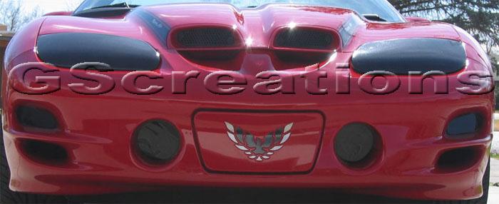 Firebird Trans Am Reverse Light Honeycomb Overlay Decal