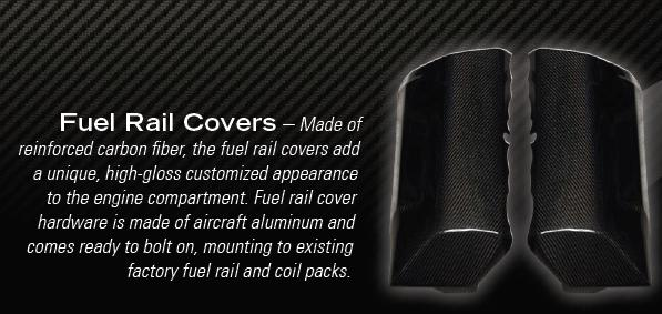 2010+ Camaro Unique Auto Designs Carbon Fiber Fuel Rail Covers