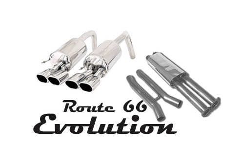 2009 C6 B&B Route 66 Quad Oval Exhaust