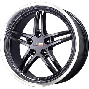 "97-04 C5 Corvette Cray Scorpion Gloss Black w/Machined Lip Wheel - 17x9"" (50mm Offset)"