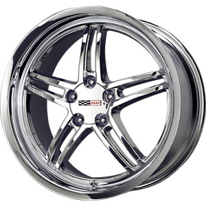 "97-04 C5 Corvette Cray Scorpion Chrome Wheel - 17x9"" (50mm Offset)"