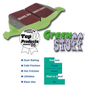 2006-08 Trailblazer SS EBC Greenstuff 6000 Series Brake Pads (Front)